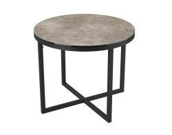 SIDE TABLE TALIA LAQUÉ ARGILE CERAMICS BLACK LACQUERED STEEL Ø55x45 CM (ET022AR)