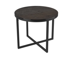 SIDE TABLE TALIA LAQUÉ STEEL CERAMICS BLACK LACQUERED STEEL Ø55x45 CM (ET022SD)