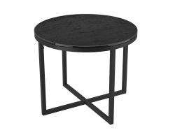 SIDE TABLE TALIA LAQUÉ TITANIUM CERAMICS BLACK LACQUERED STEEL Ø55x45 CM (ET022TI)