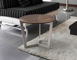 SIDE TABLE TAMARA SEPIA BRUSHED STAINLESS STEEL Ø55x45 CM (ET043P)