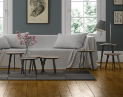 SIDE TABLE TOSCA TAUPE CERAMIC LACQUERED STEEL 44 x 44 x 56 CM (ET202CT)