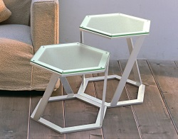 SIDE TABLE TWIST SAND BLASTED BRUSHED STAINLESS STEEL 48x48x45,8 CM (ET038S)