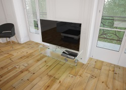 TV SET ATENA CRYSTAL ACID ETCHED HOT BENT GLASS 103 x 40 x 45 CM (TV004RA)