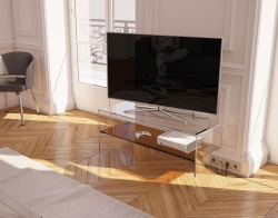 TV SET ATENA SEPIA HOT BENT GLASS 103 x 40 x 45 CM (TV004P)