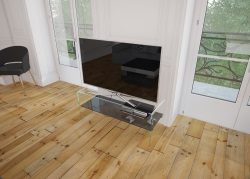 TV SET ATENA TINTED GREY HOT BENT GLASS 103 x 40 x 45 CM (TV004G)