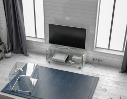 TV SET MIKA CRYSTAL HOT BENT GLASS 104x40x42 CM (TV075)